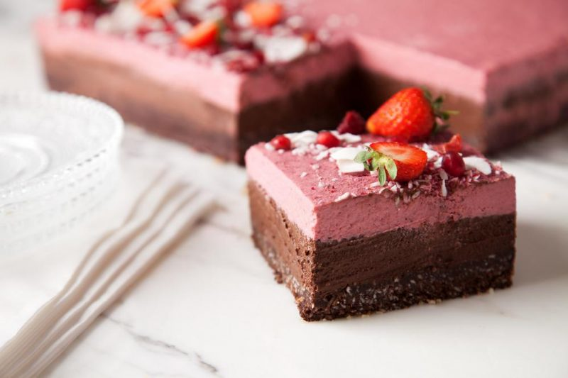 chocolate & strawberry mousse
