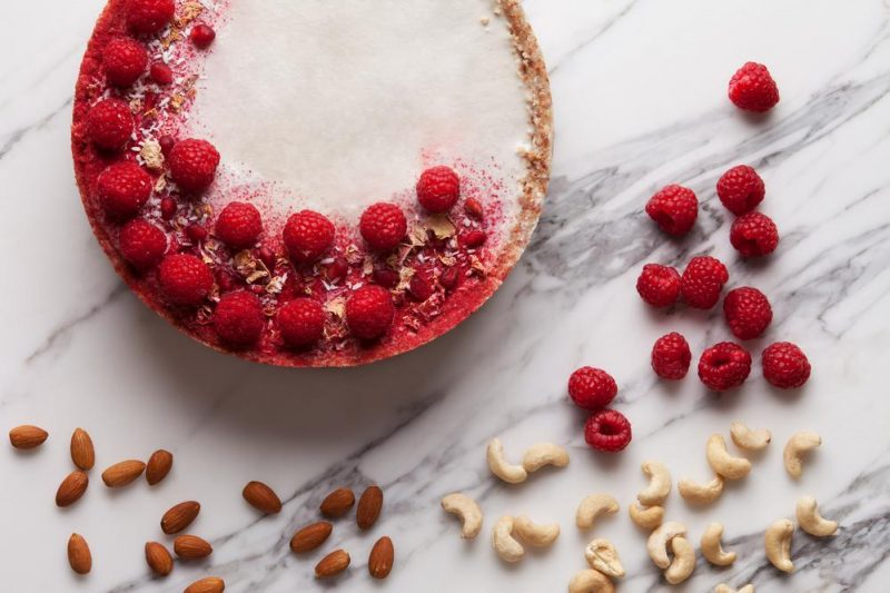 seasonal berries tart