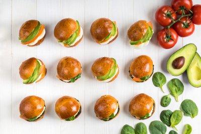 mini vegetarian sandwiches