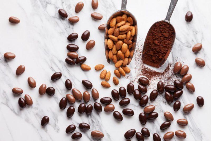 sugar free mixed chocolate almonds