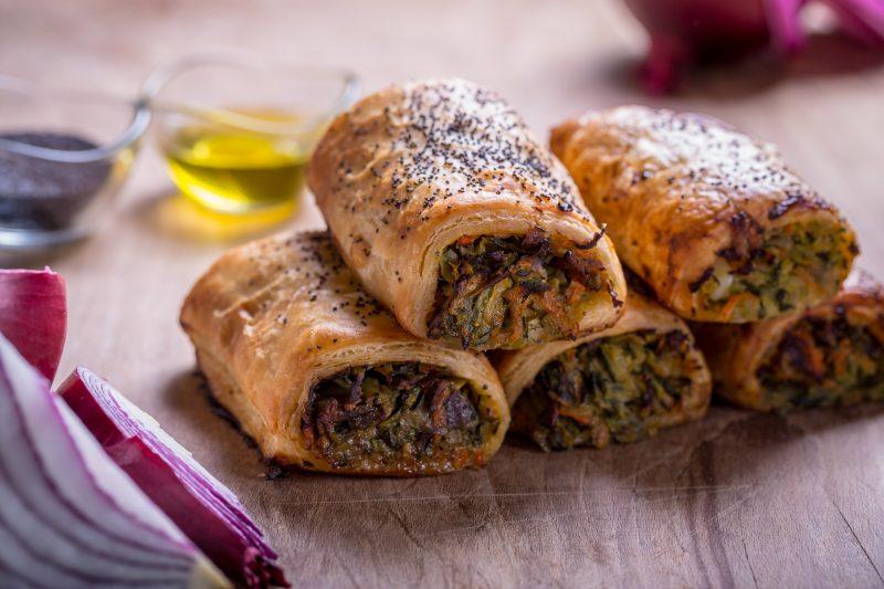 vegan courgette rolls